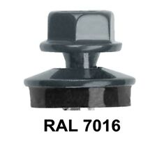 Trapezblech Schrauben Graphitgrau RAL 7016 Fassadenschrauben 4,8 x 35 mm 100 St.