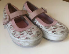 Keds Hello Kitty Mary Jane Style Pink White Sequin Sneaker Girls Size 10.5