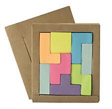 8 Pezzi Puzzle Appiccicoso Promemoria Tetris Ufficio / Scrivania Note/ Note /