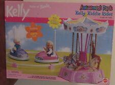 Barbie Amusement Park KELLY Kiddie Rides Fun Fair Bumper Cars Carousel NEW