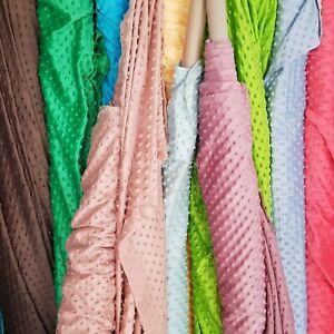 DIMPLE DOT FLEECE POPCORN CUDDLE Dress Fabric Dress Night Gowns Crafts Blankets