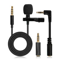 3.5mm Clip-on Microphone Lapel Lavalier Microphone Recording Mic for Phone PC
