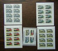 Tanzania 1986 Centenary of Motoring set in sheets of 8 + Miniature Sheet MNH