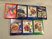 (7) Intellivision Games Snafu Skiing Star Strike Space Battle NFL Football Poker