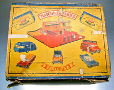 "MATCHBOX ""garage set"" Giftset 1961 extrêmement rare vide boxruine"