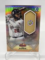 Trey Harris Bowman Chrome refractor Relic AFL- Game Used