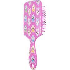 EASTER BUNNY RABBIT PINK STRAIGHT HAIR BRUSH PVC RABBIT HOLIDAY GIFT BASKET