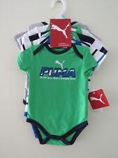 PUMA - 5 PIECE BODYSUIT SET 3 - 6 MONTHS NEW WITH TAGS NEWBORN BABY GREEN ROMPER