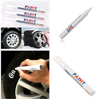 12 Pcs White Colour Marker Paint Plastic Pen Fit For All Types of Tires Tread