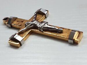Scrap or wear 18ct/22ct gold chunky crucifix
