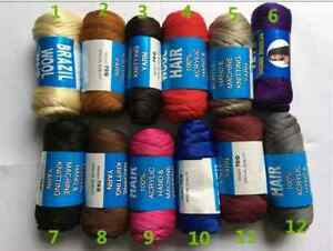 Brazilian Wool Hair Yarn [ 3, 6,& 12 Pieces ] Fast Delivery