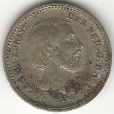 1879 Netherlands Silver Willem III 5 Cents | Pennies2Pounds (N1)