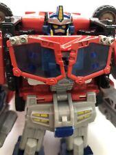 Transformers Cybertron Leader Class Optimus Prime figure near complete Hasbro