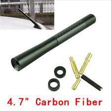 "Universal 4.7"" 12CM Car Mini Antenna Short Radio AM/FM Antena Mast Carbon Fiber"