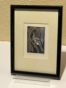 Sister Margaret Tournour Signed Wood Engraving Print of Chaffinch 1990