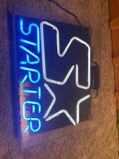 Starter Sports Wear Store Display Neon Light Advertising Sign Vintage Double