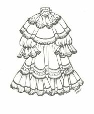 """Sewing Pattern 15 16"""" Doll Dress clothes outfit Victorian German French 659"""