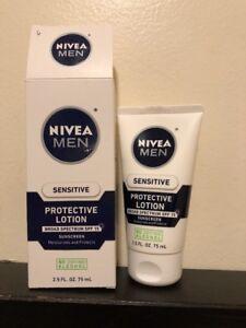 NIVEA FOR MEN Sensitive Protective Lotion SPF 15 2.5 oz