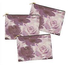 S4Sassy Floral Multipurpose Cosmetic Pouch Pencil Case Make Up Bag 3 Pcs-FL-156D