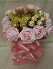 Pink Ferrero Rocher & Yankee Candles Chocolate Bouquet - Sweet Gift Hamper