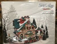 "DEPT 56 SNOW VILLAGE CHRISTMAS LANE SERIES ""SANTA'S WONDERLAND HOUSE"" BRAND NEW"