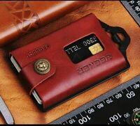 Minimalist Mens Genuine Leather Wallet Money Clip Slim RFID Blocking Thin Card
