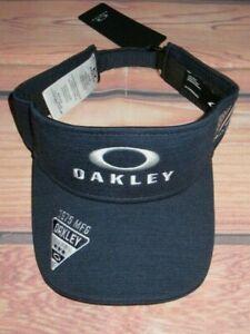 MENS OAKLEY NAVY BLUE VISOR HAT ADJUSTABLE CAP