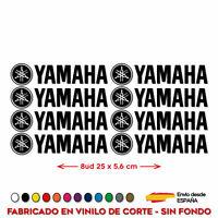 8X PEGATINAS YAMAHA VINILO PACK ADHESIVO LOGO KIT MOTO DECAL 25 CM x 5,6
