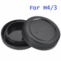 Plastic Rear + Body Lens Cap Cover For Olympus OM 4/3 M4/3 Camera Body & Lens
