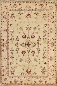 Floral Peshawar Traditional Oriental Area Rug Hand-knotted Home Decor 4x5 Carpet