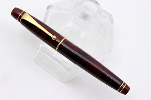 Anonymous By STIPULA -Fountain Pen- BURGUNDY LACQUER On BRASS - From 90's-NEW