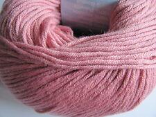Debbie Bliss Eco Baby 100% Organic Cotton yarn. New 50g ball. Blush Pink