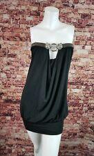 Sky Brand Rhinestone Crystal Dress S Small Black Minidress