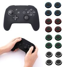 For Nintendo Switch Pro Black Silicone Controller Grip Case + 4-pc Analog Caps