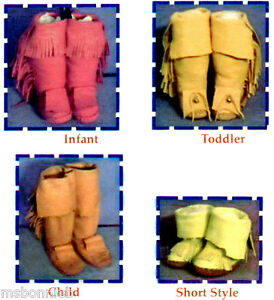 Native American Indian Yaqui Moccasin - Infant Toddler Child size Sewing Pattern