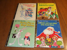 4 Little Golden Books, Bugs Bunny, Raggedy Ann & Santa