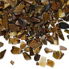 Tigereye Gemstone Natural Un-Drilled Inlay Embellishment Mini-Chips 50 grams