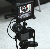 """7"""" Canon 5D Mark III HDMI Monitor Hot-Shoe Battery 7D DSLR Samsung LED Outdoor"""