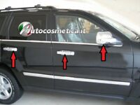 Cover specchi retrovisori+4 maniglie in abs cromo Jeep Grand Cherokee 2005-2010