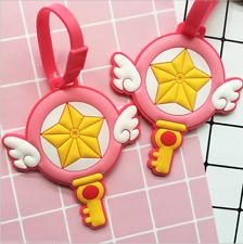 Us!Card Captor Sakura Kinomoto Pink Magic Baggage Tag Bag Accessory Cosplay Prop
