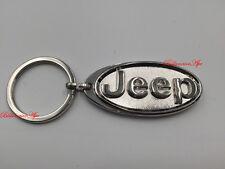 JEEP KEYRING STAINLESS BRANDED 3D CAR LOGO FOB KEY RING KEYRINGS KEY CHAIN