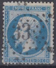 FRANCE : EMPIRE 20c BLEU N° 22 OBLITERATION ETOILE DE PARIS N° 33