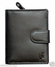STARHIDE LUXURY SOFT BLACK REAL LEATHER WALLET WITH SECURE ZIP COIN PURSE 1080