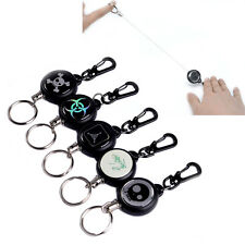 EDC Steel Wire Rope Retractable Carabiner Keychain Key Chain Recoil Keyring