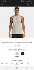 Under Armour Mens Project Rock Charged Cotton Tank Xl Summit White