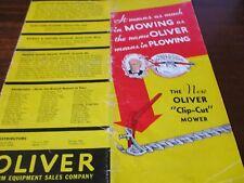 """Oliver """"Clip-Cut"""" Mower Sales Brochure 1935"""