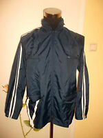 vintage 80`s Nylon Regenjacke 2 Streifen rain jacket oldschool festival 52 M/L