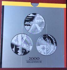 Belgique - Série Proof  Millenium  Avec  3 x 200 Francs argent Proof  FR/VL/DE
