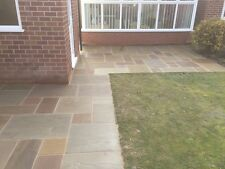 Raj Green Indian Sandstone Paving Patio Flags Slabs. 20m2 patio pack £18.55/m