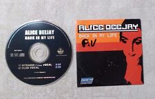 """CD AUDIO MUSIQUE / ALICE DEEJAY """"BACK IN MY LIFE"""" 2T CD SINGLE 1999 CARDSLEEVE"""